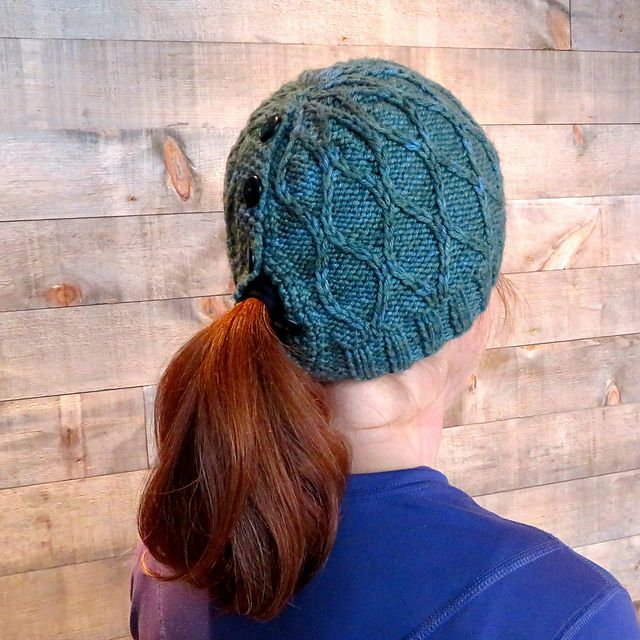 69564de7f480f If you re looking for a knit hat with ponytail hole pattern