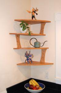 One Leg Corner Wood Corner Shelves Corner Shelf Design Shelf Design