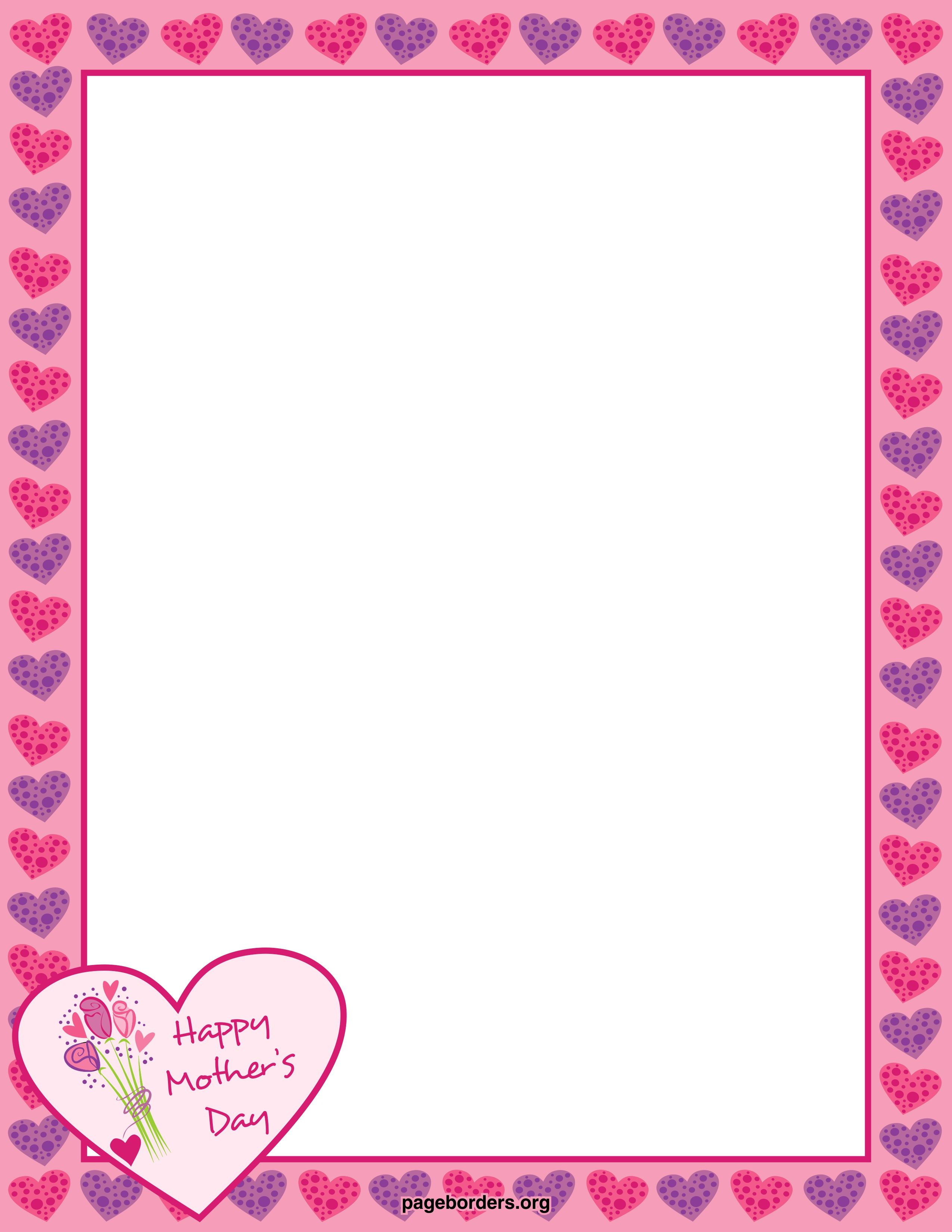 Mother\'s Day Borders | Free Mother\'s Day Border: AI, EPS, GIF, JPG ...