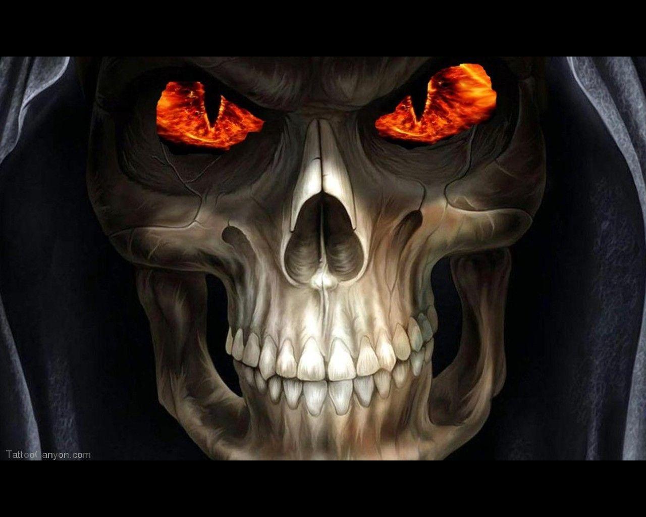 Grim Reaper Skull Tattoos Grim Reaper Horror Skull Wallpaper Free Download Tattoo 32843 Picture Skull Wallpaper Skull Pictures Horror Skull
