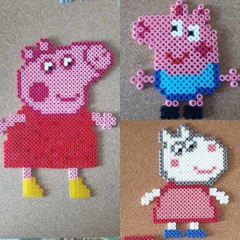 Peppa Pig Hama Beads By Cosmichelen With Images Perler Bead