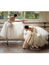 Glamour Ballet Girls 60*50cm Canvas Hand People Oil Painting