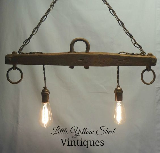 Repurposed Horse Yoke Turned Hanging Light Using Edison