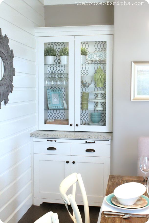 DIY Blogger House {the china cabinet!} A whole house designed by bloggers! via House of Smiths @Shelley Smith