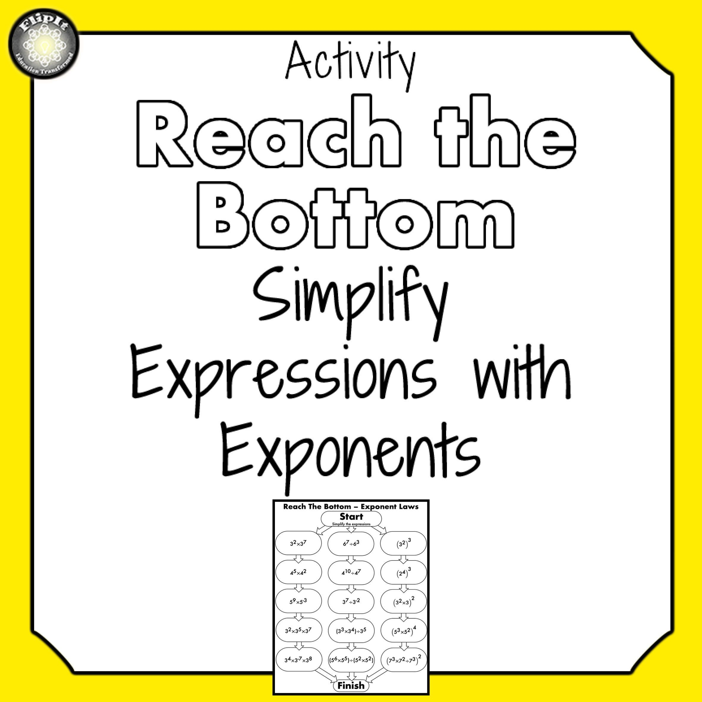 Simplifying Expressions With Exponents Number Bases In