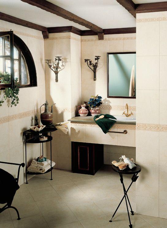 Muebles rusticos para ba os interior desing dc decorando el ba o con muebles r sticos de - Azulejos banos rusticos ...