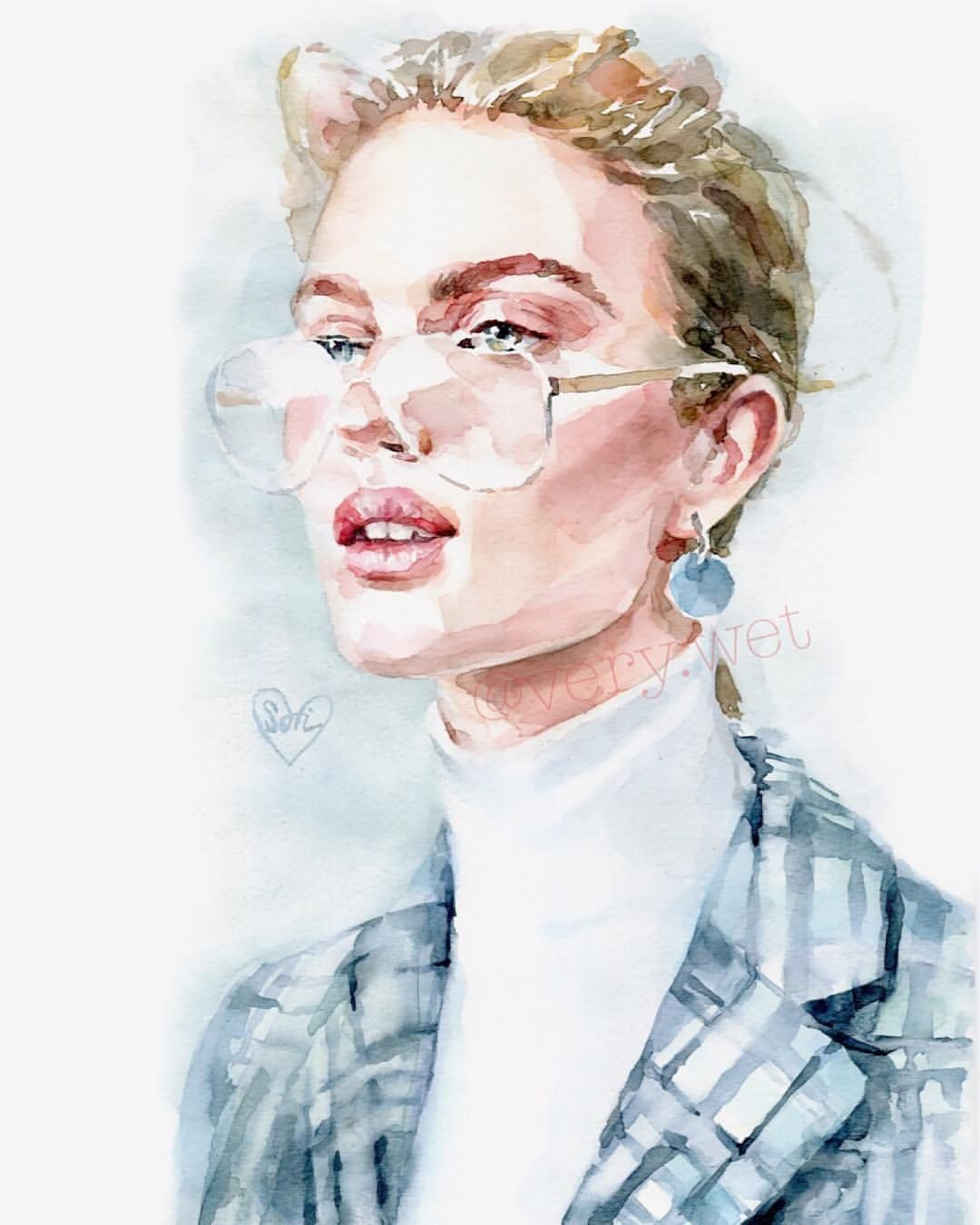 Sonya Watercolor Very Wet V Instagram Portrait Girls Paint