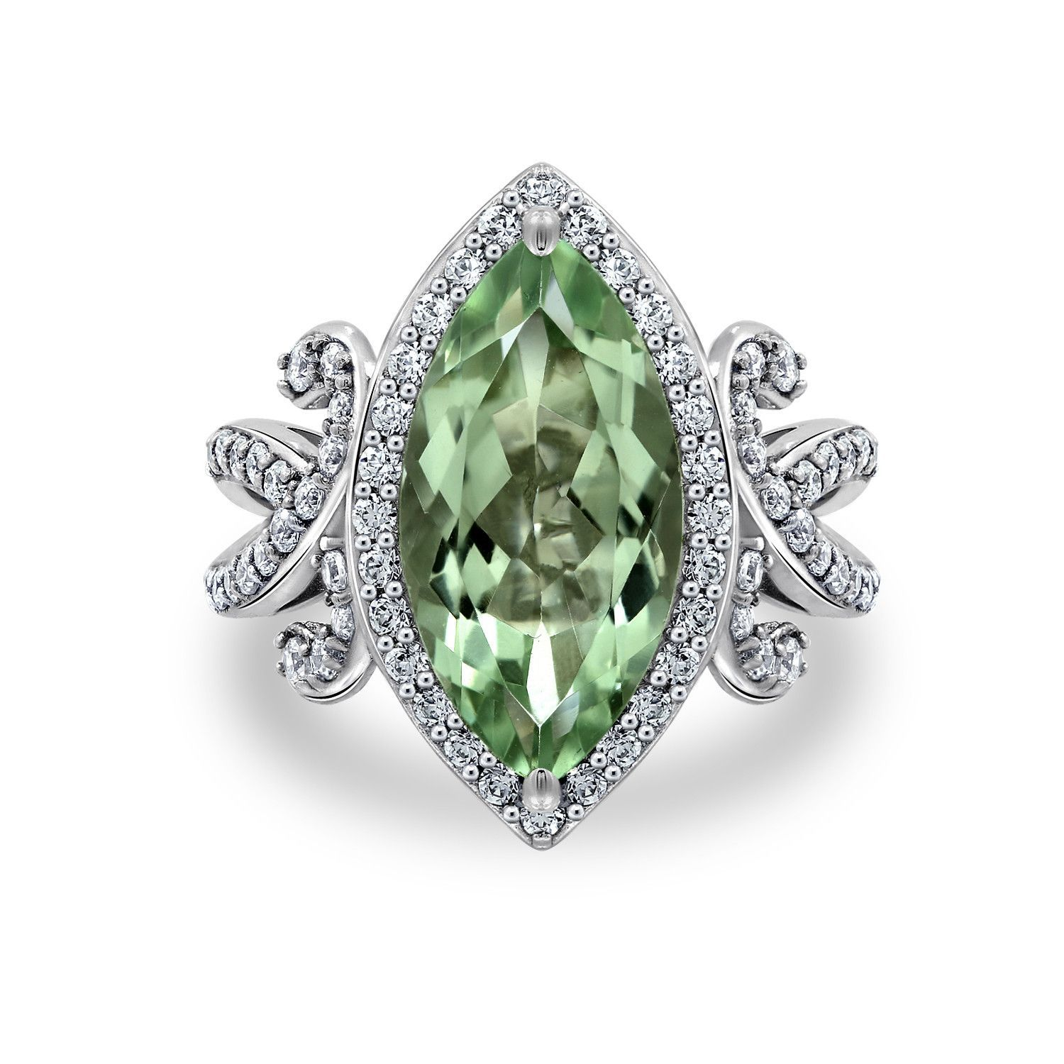EC by Erica Courtney Lime Quartz Marquise Ring