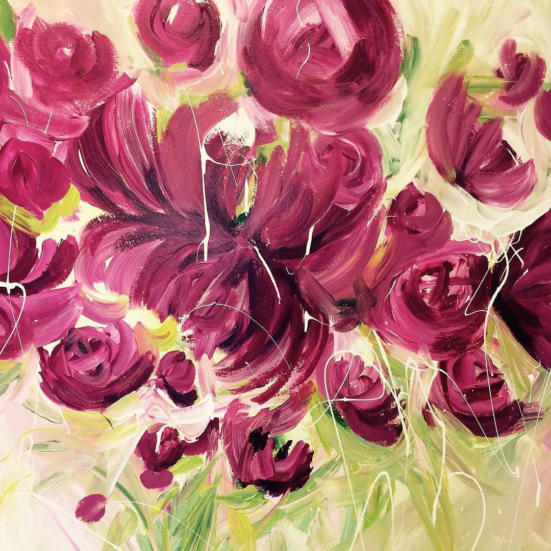 #sandysfurniture we are feeling spring with art by Angela www.angelaemsley.net @sandysfurniturebc