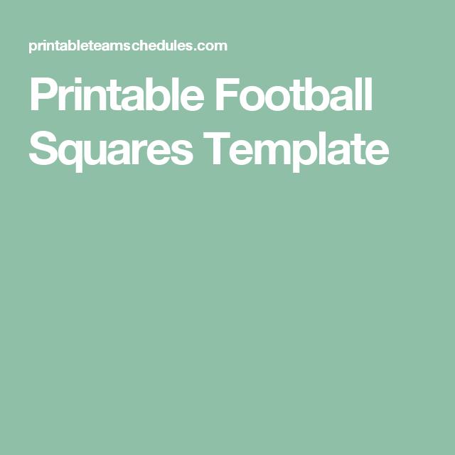 Printable Football Squares Template superbowl pool squares Pinterest