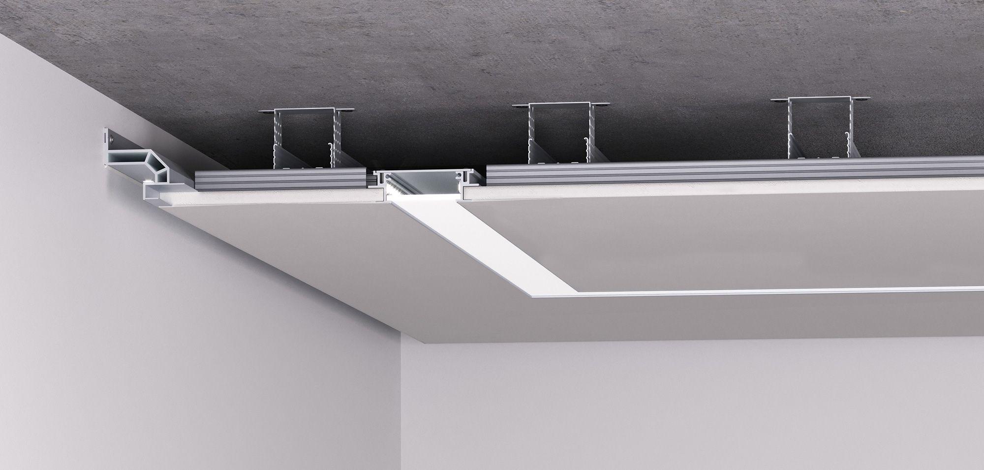 Linearbeleuchtung Fur Trockenbaudecken Lineare Beleuchtung Beleuchtung Blitz Design