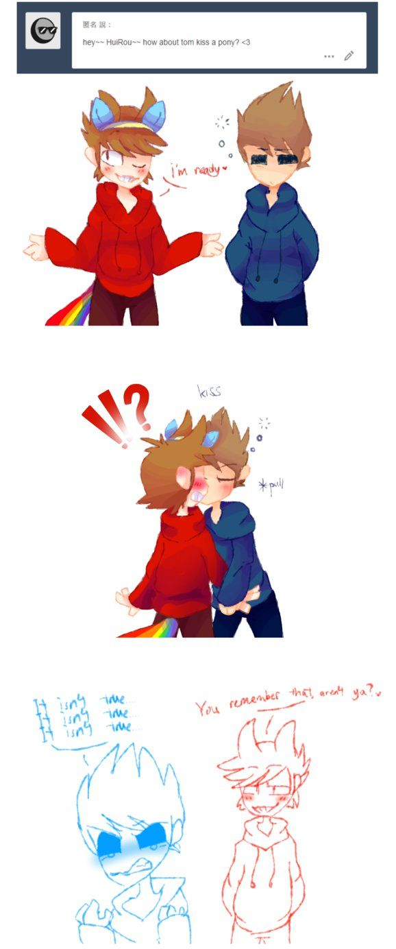 Eddsworld Tom X Tord - Kiss pony by HuiRou | eddswourld tom