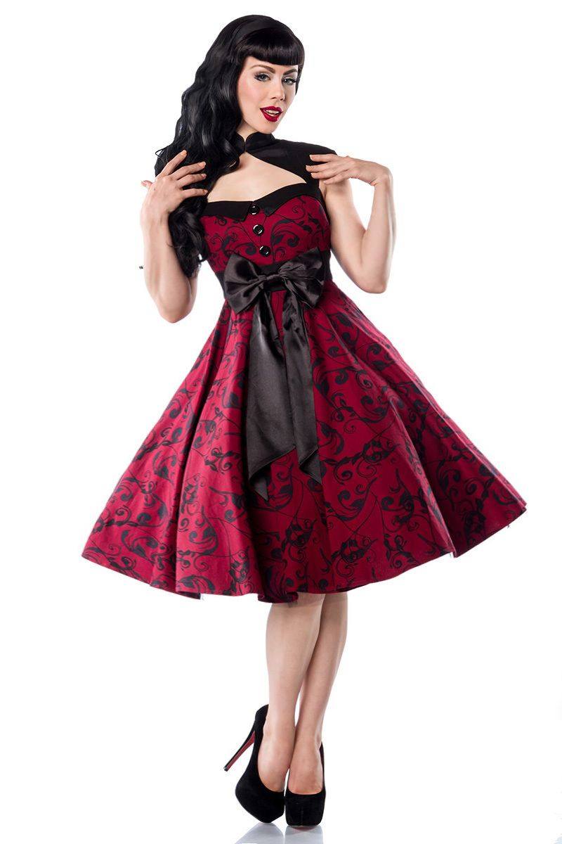 318e7543 Smart rød Rockabilly kjole | Smukke Rockabilly Kjoler | 50s fashion ...