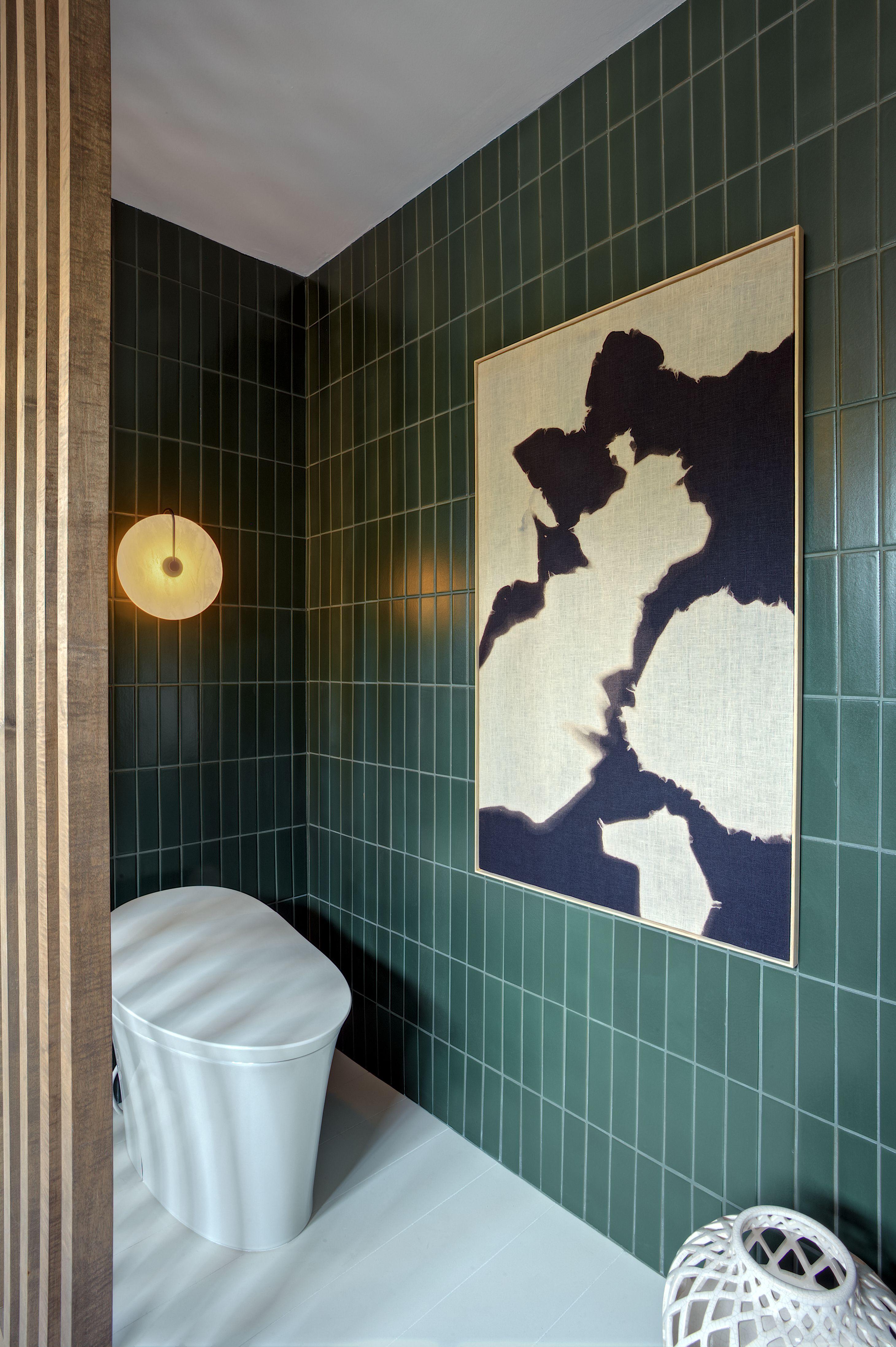 Vanity Is Painted Benjamin Moore 2041 10 Hunter Green Bathroom Design Inspiration Green Bathroom Dark Green Bathrooms