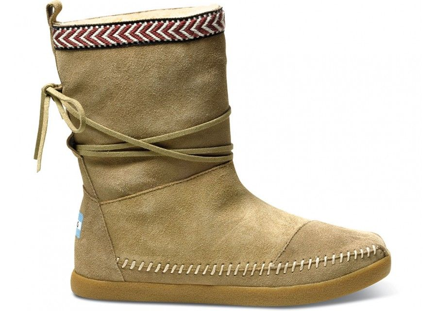 Want Want Want! Toms Sand Suede Trim Women's Nepal Boots I