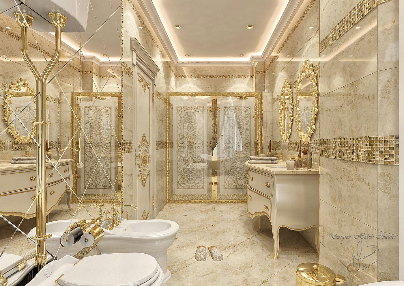 Classic Bathroom Design On Behance Classic Bathroom Classic Bathroom Design Bathroom Design