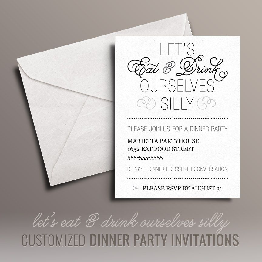 Eat and Drink Free Dinner Party Invitations (Free Printables Online - Free Printable Dinner Party Invitations