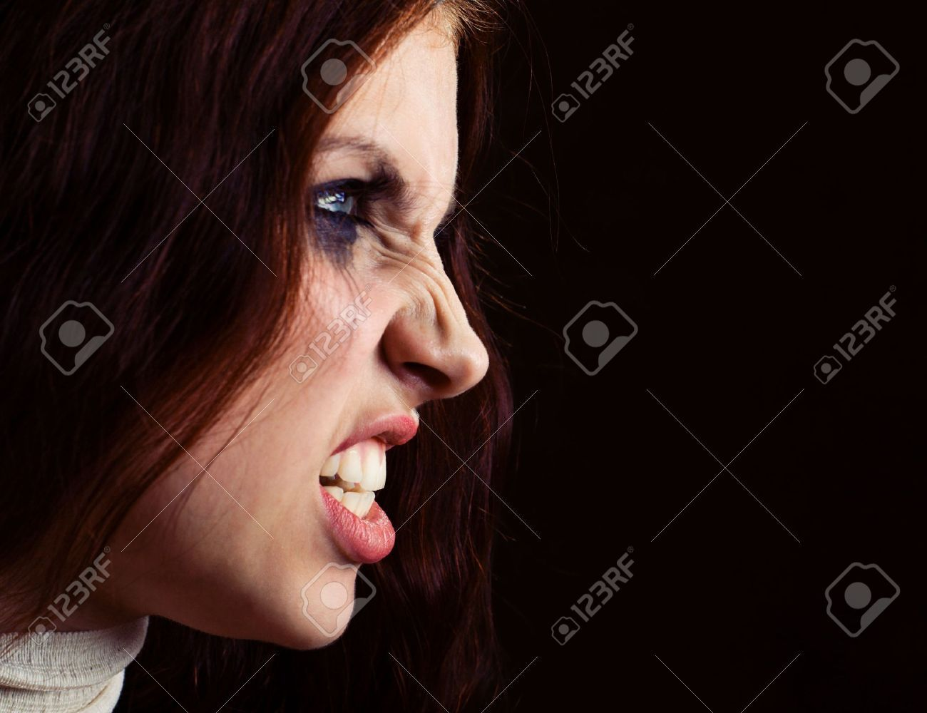 Angry Girl Angry Women Female Profile