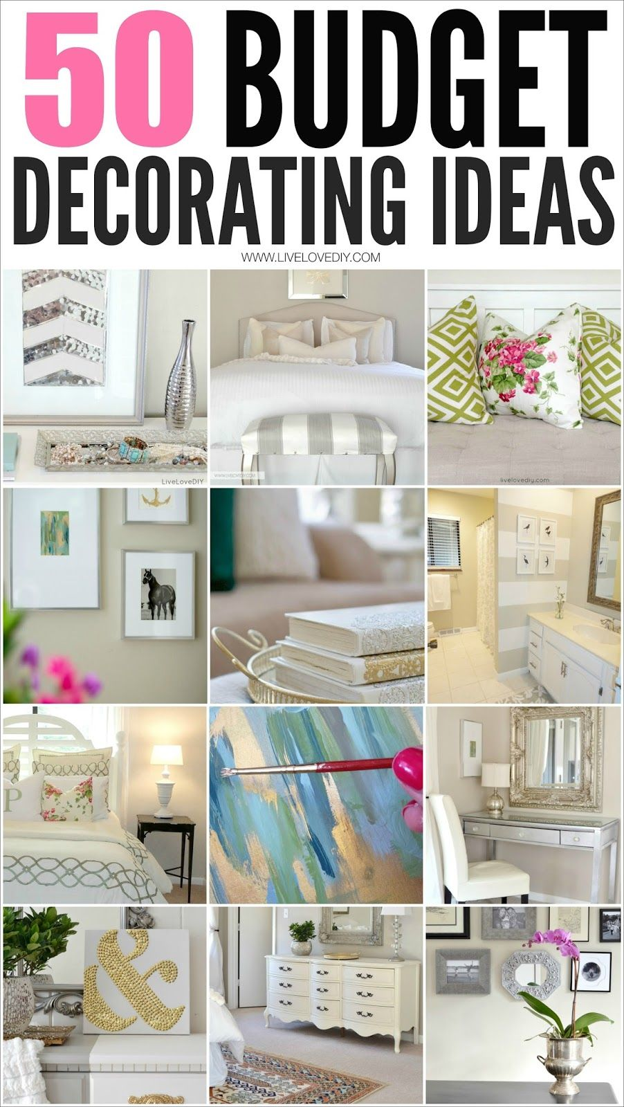 50 Budget Decorating Tips You Should Know!   LiveLoveDIY. Budget DecoratingApartments  DecoratingBedroom Decorating IdeasDecor ...