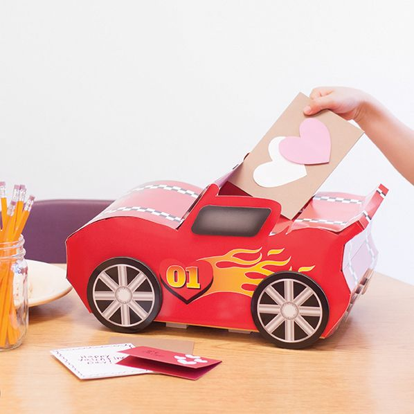 Build Race Car Valentines Box