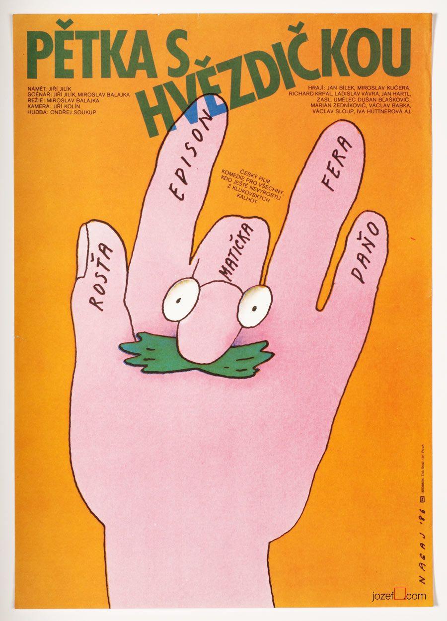 50% Movie Posters Sale £15.00 / Bad Marks, Poster design Vladimír Nagaj, Made in Czechoslovakia, 1986.