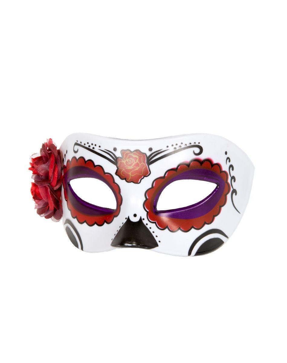 Side Flower Day of the Dead Mask – Spirit Halloween | .:. Props ...