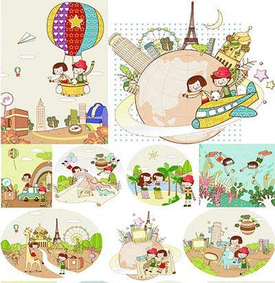 children travel vector free vector graphics vector art images children travel vector free vector graphics 400x412