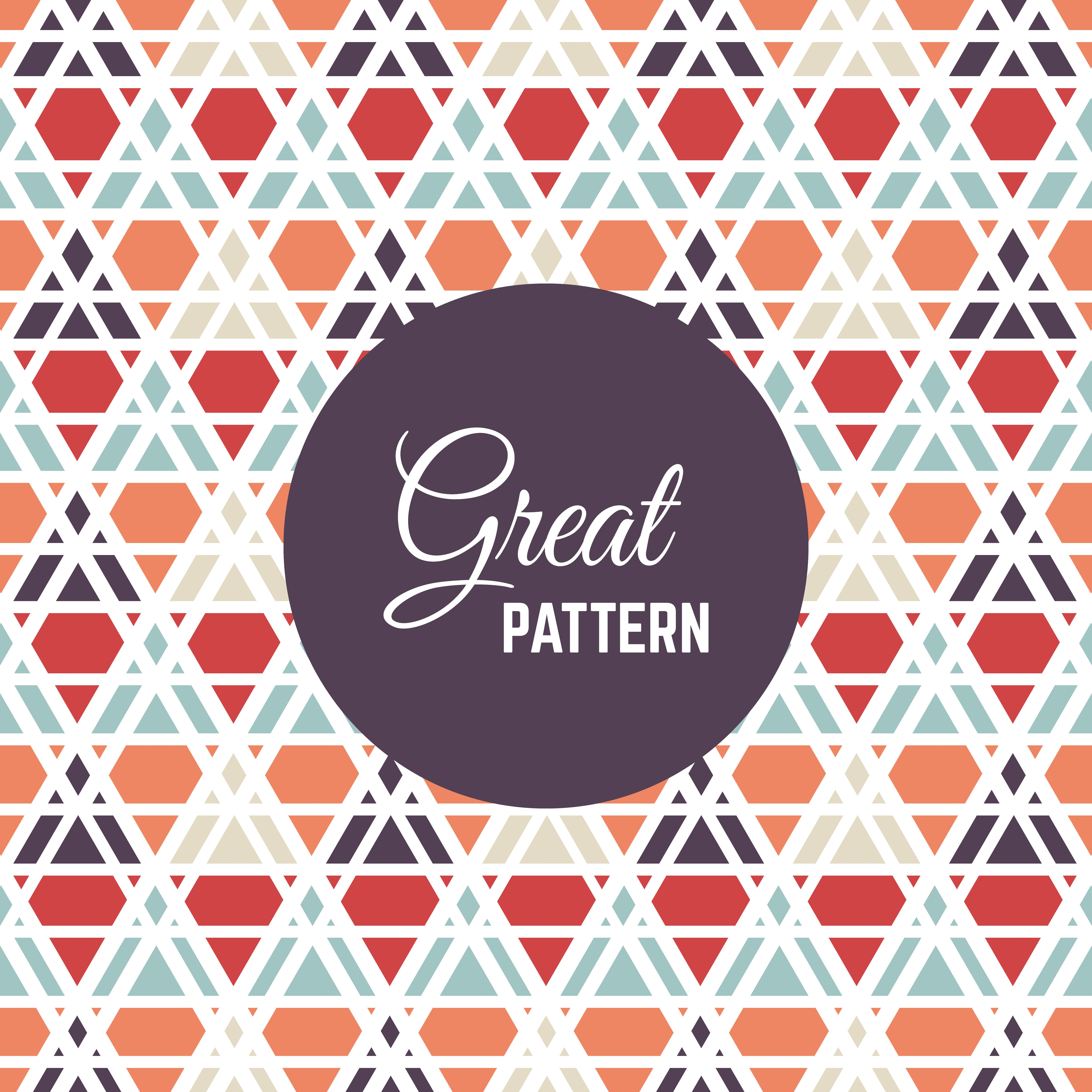 Seamless vector geometric color pattern background ...