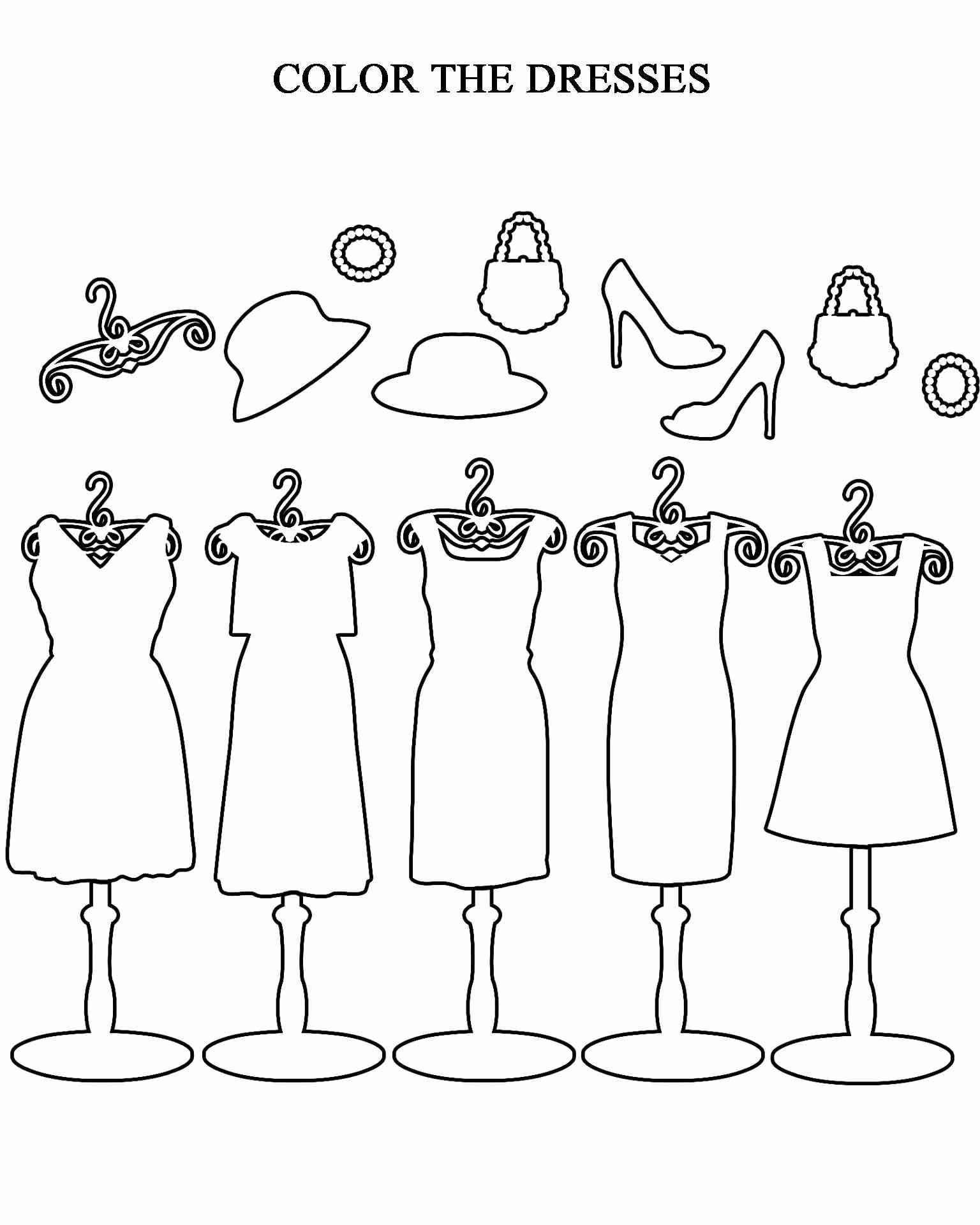 Color The Dresses