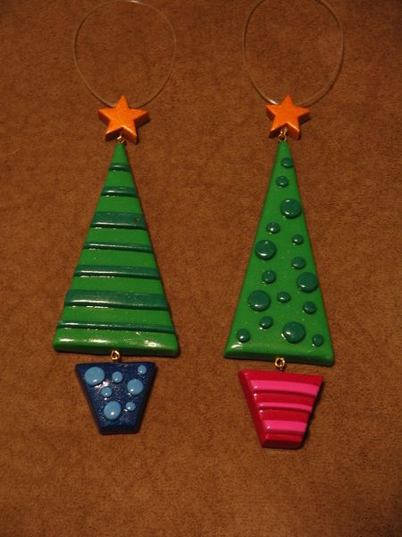 Polymer Clay Ornaments ∙ Creation by Candice C. on Cut Out + Keep - Polymer Clay Ornaments Christmas Trees Polymer Clay Ornaments