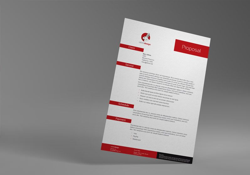 InDesign Proposal Template: I | Design | Pinterest | Proposal ...