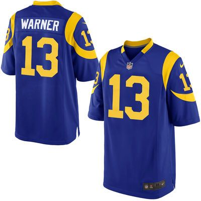 on sale a70f5 11289 Mens St. Louis Rams Kurt Warner Nike Royal Blue Retired ...