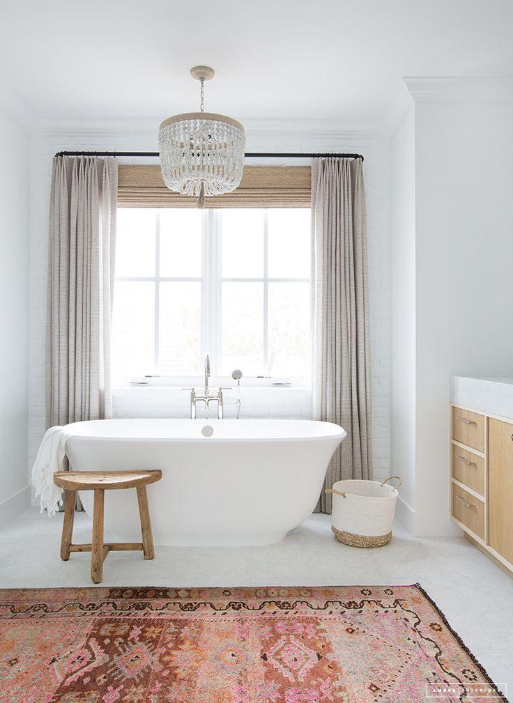 Rug In The Bath Amber Interiors Bathroom Window Coverings Bathroom Inspiration