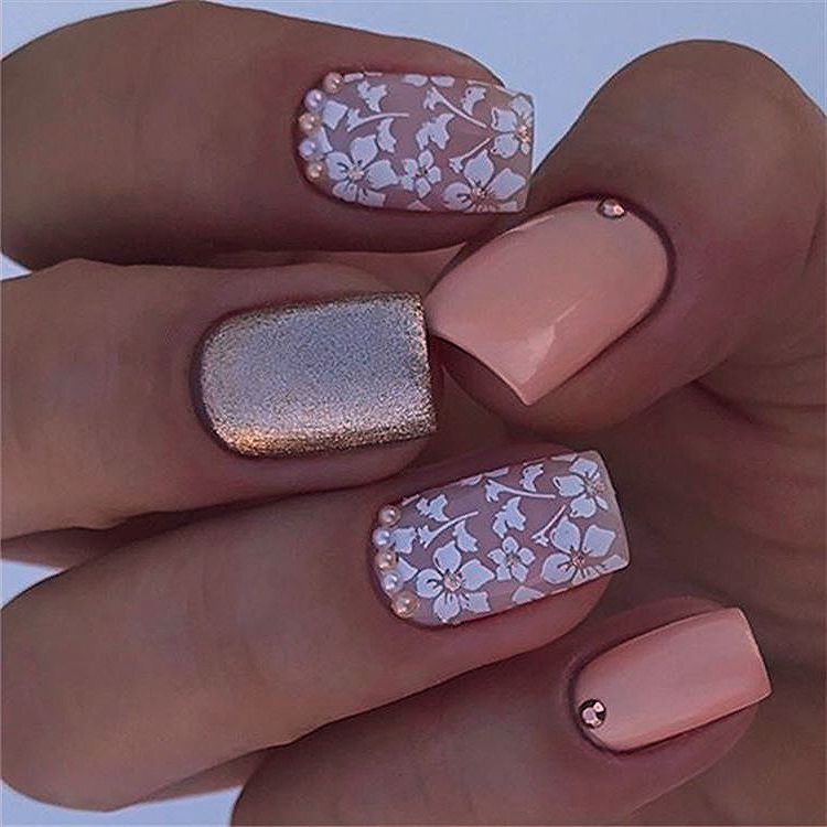 elegant sqaure matte nails design ideas; square acrylic nails; spring nails; matte nails design; long sqaure matte nails #mattenails #longnails