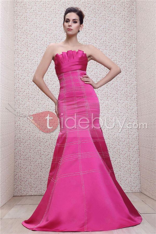 Taline\'s-Vestido de Noche Nuevo Estilo sin Tirantes Tipo Sirena con ...