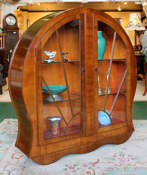 Art deco display cabinet c 1930