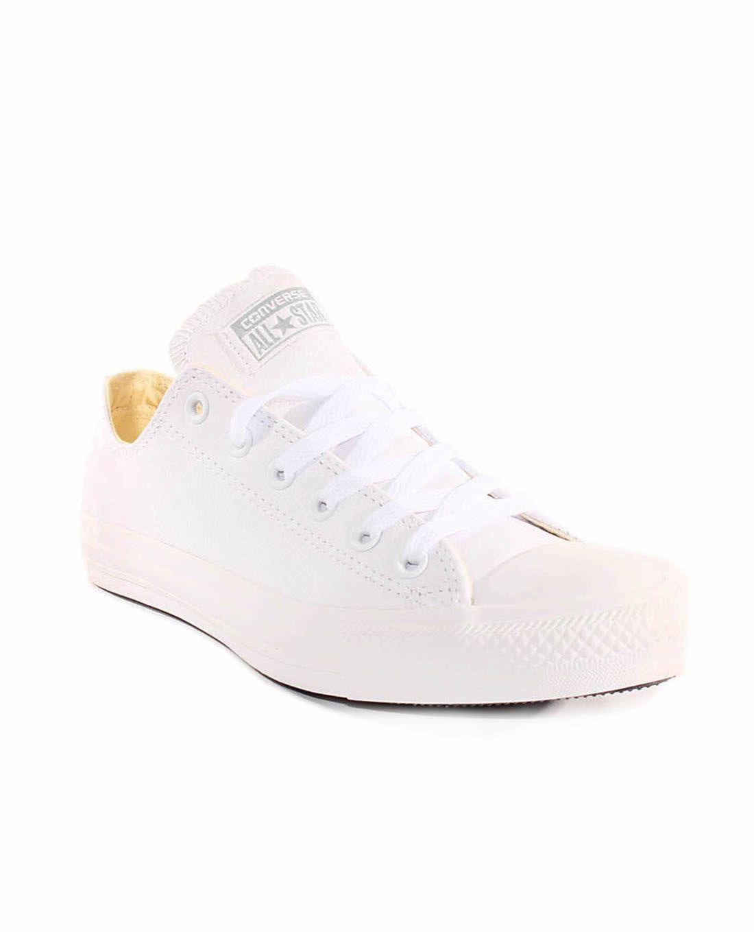 f843cd6c251a1 Zapatillas CONVERSE blanco Chuck Taylor piel