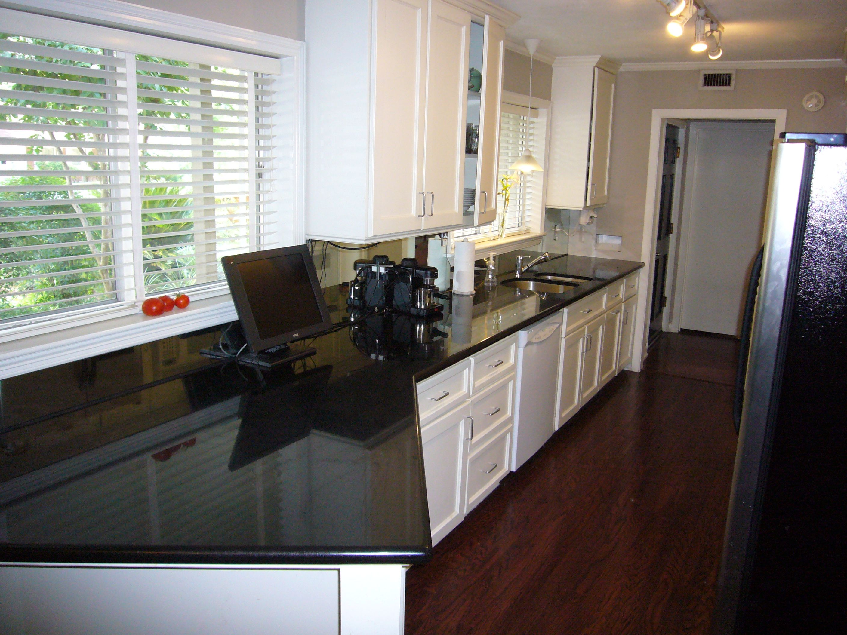 white cabinets dark floors grey walls galley kitchen design galley kitchen remodel galley on kitchen remodel dark floors id=66982