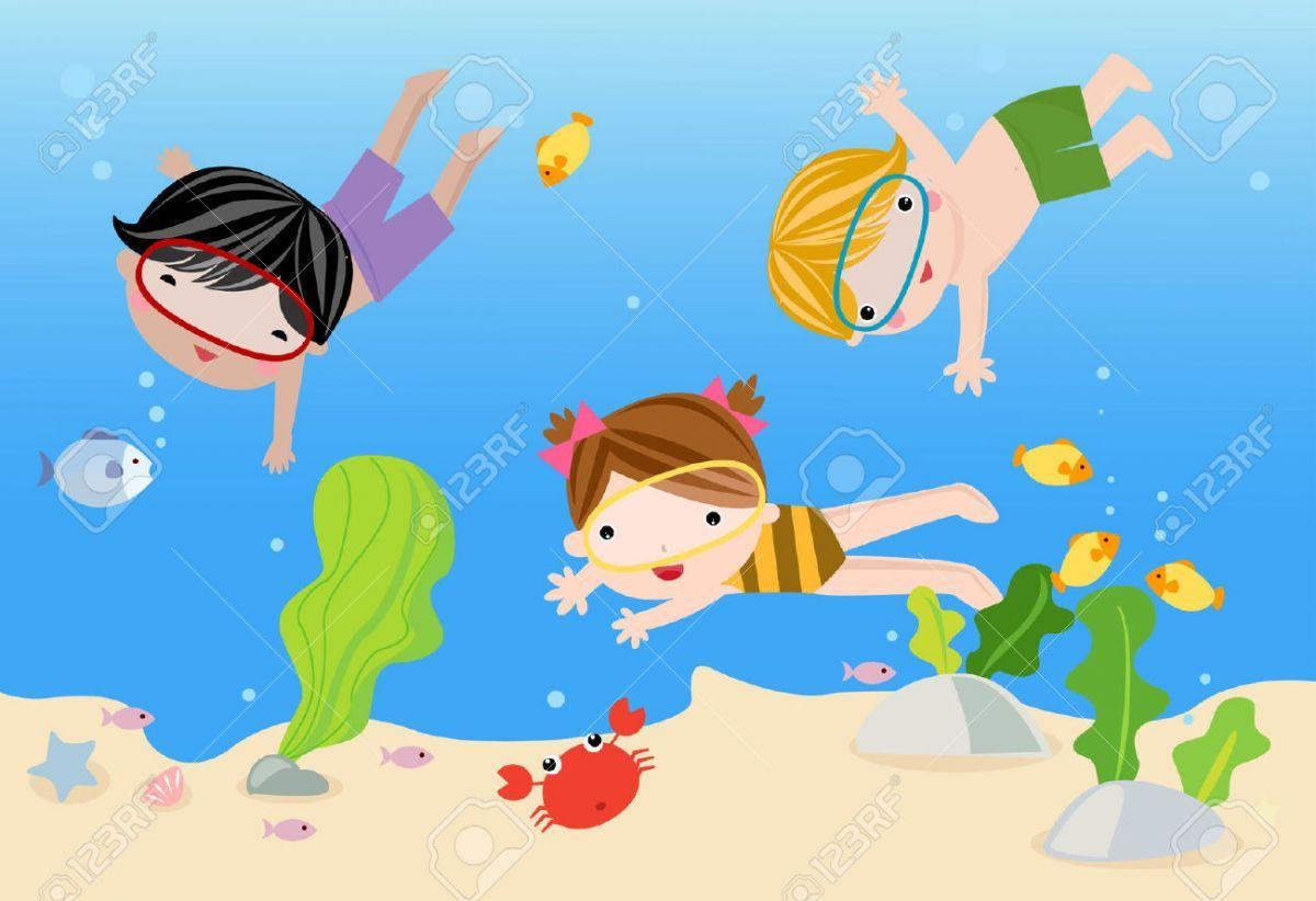 Картинки по запросу картинки плавают дети