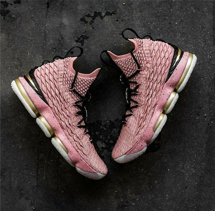 ddc4345f96a NIKE LEBRON 15 XV ALL STAR LMTD HOLLYWOOD RUST PINK BASKETBALL SHOES 897650  600  nikelebronbasketballshoes