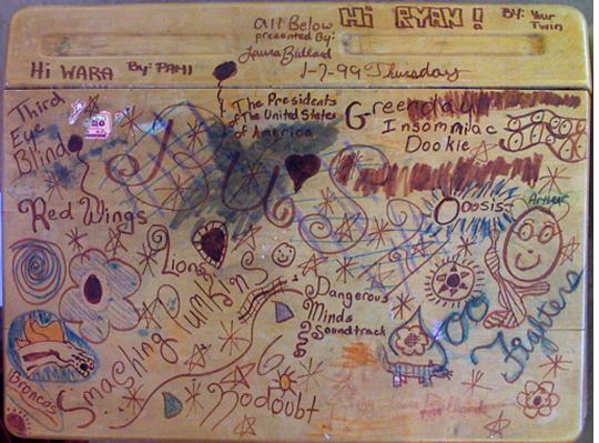 Back to School: Desk Graffiti. | Lettering | School desks ...