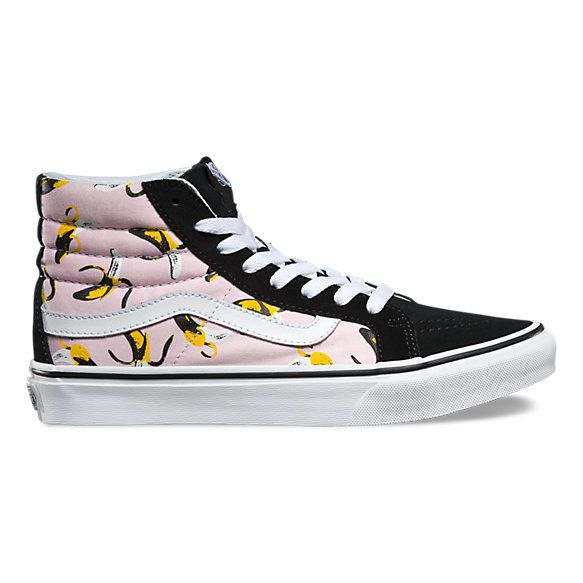 dc99e387f3 Vans SK8 banana themed hi-tops. I own these and wear them to tears. These  are the shoes starting my love affair with Vans.