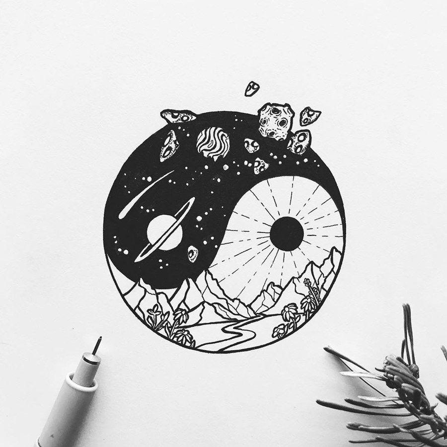 Stupefacente эскизы тату черно белые легкие