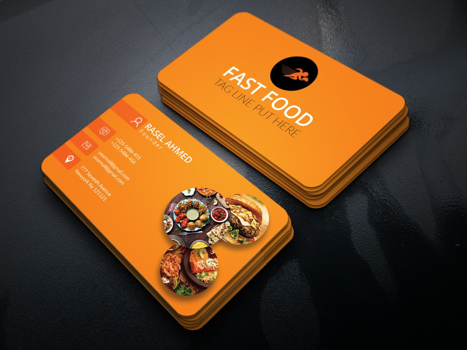 Food business card by marketing fancier on business card