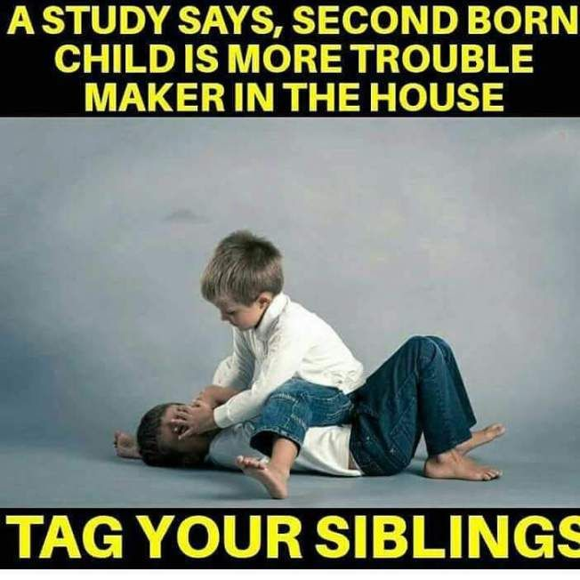 Are You Second Born Child Siblings Funny Quotes Brother Quotes Funny Sister Quotes Funny