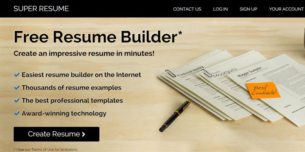 Professional Resume Builder Online Super Resume  Online Resume Builders  Pinterest  Online Resume