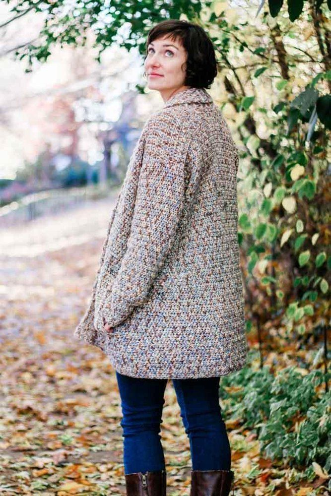 Photo of Up North Cardigan Crochet pattern by Jess Coppom Make & Do Crew