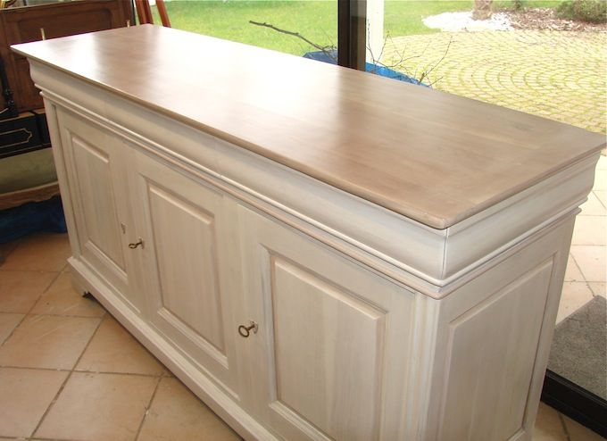 Buffet En Chene Patine Gustavienne Gris Bleu Latelierdamepatine Furniture Makeover Diy Furniture Restoration Furniture Restoration