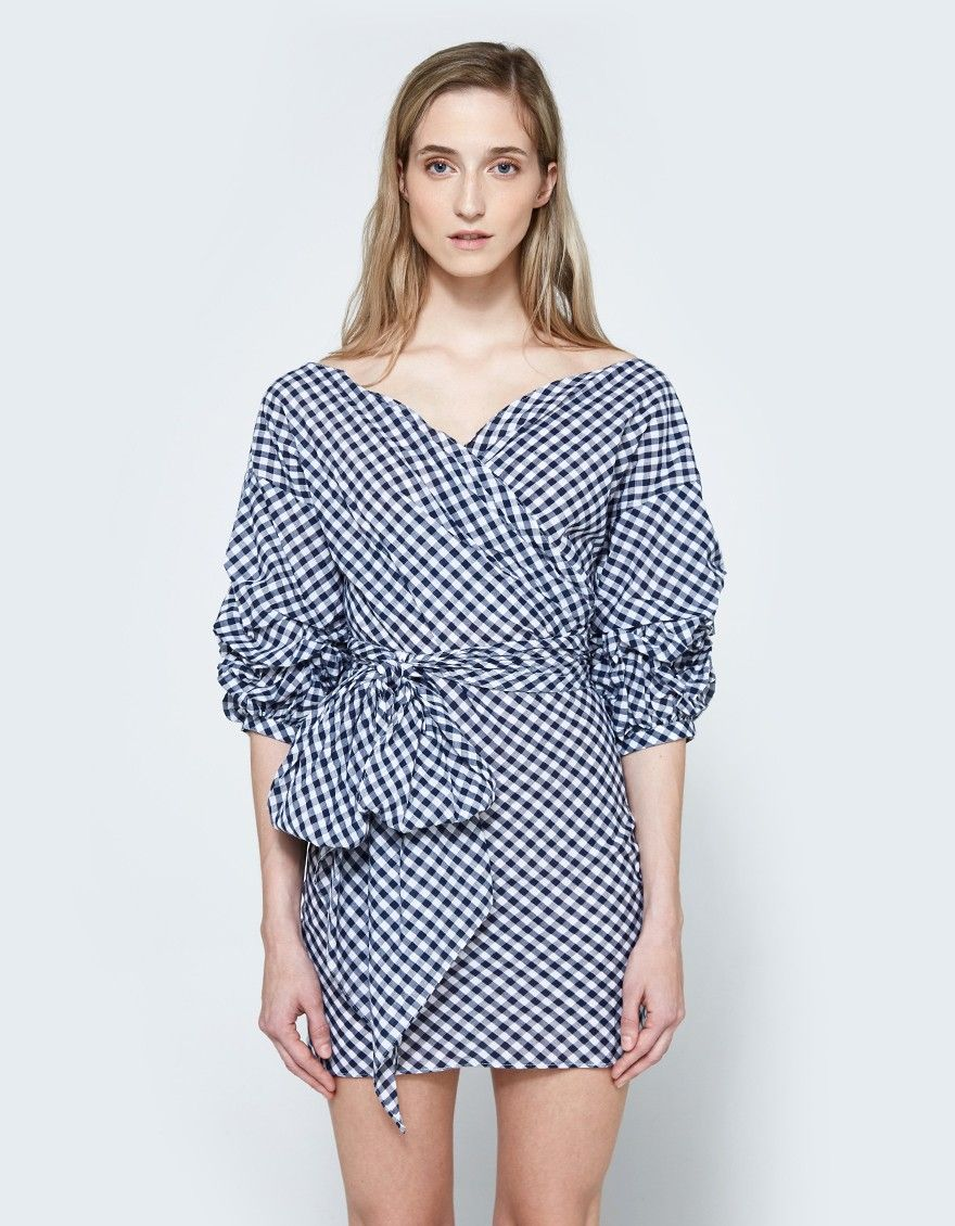 Farrow jayne wrap dress in gingham retail therapy my style