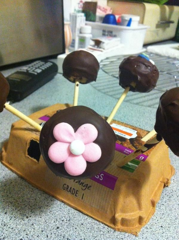 Need a cake pop stand? Reach for an egg box holder.
